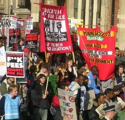 Hairy left-wing loonies on march against sensible Government policies