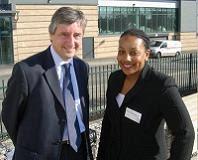 Miranda Grell with Jim Fitzpatrick