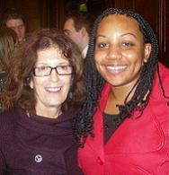 Miranda Grell with Anita Roddick