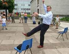 Chris busking to help pay his university top-up fees