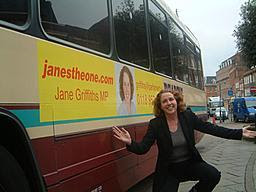 Jane escapes on a coach full of returning Poles