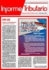 INFORME TRIBUTARIO NOV. 2006