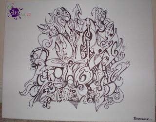 sketsa gambar graffiti