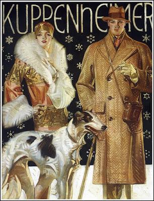 J. C. Leyendecker Illustration with Borzoi Dog