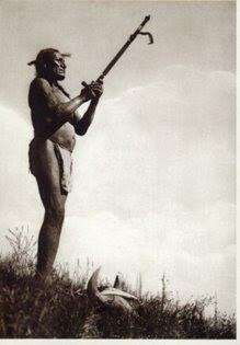 Pajé Sioux em momento de oração