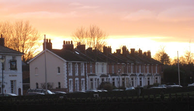 Sunset over Archery Road