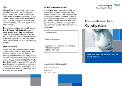 One side of the constipation leaflet