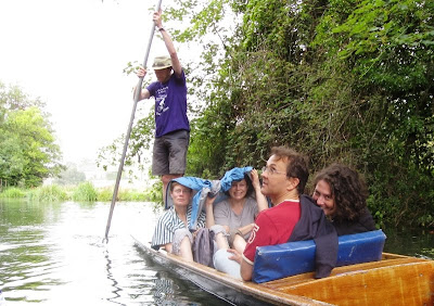 Punting in a rain shower