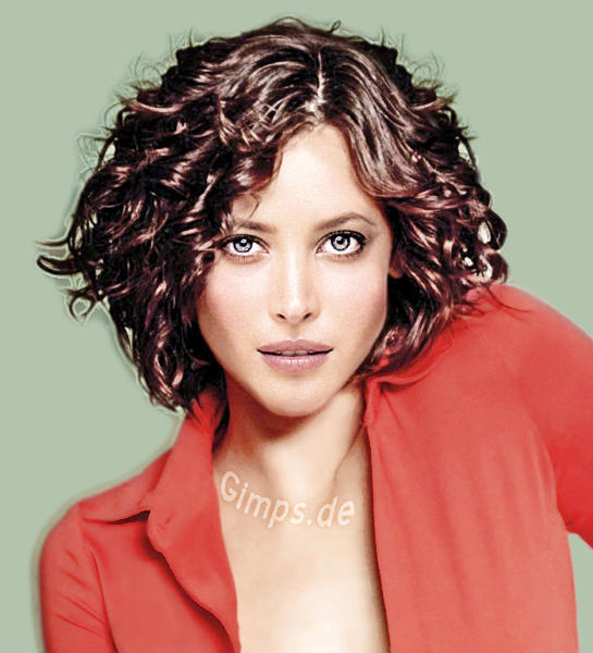Hairstyle Handbook. brunette with short curly hair