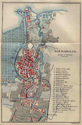 Peta Kota Surabaya Indonesia