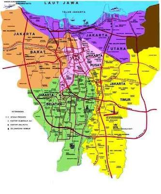 Gambar Peta DKI Jakarta Indonesia