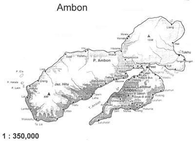 Map of Ambon Island Indonesia