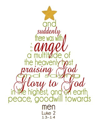 Love this christmas scripture tree printable from betty crocker