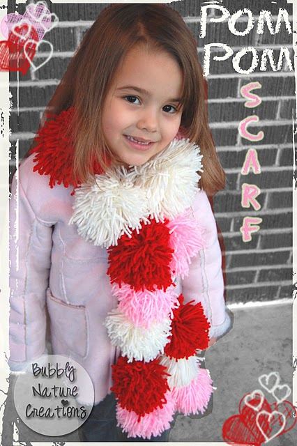 Isnt this pompom scarf cute Its great for kids tweens and teens  Cute Scarves For Kids