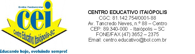 CENTRO EDUCATIVO ITAIÓPOLIS
