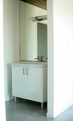vattern cabinet with hollviken sink and ensen faucet all from ikea