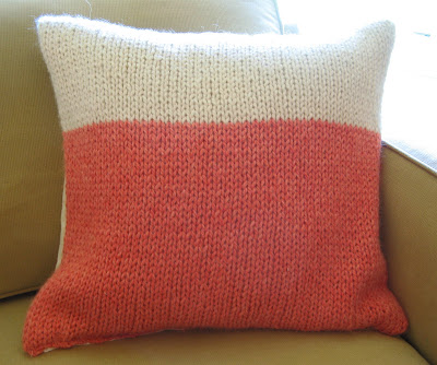 Easy Knitted Cushion Patterns : How To: Make a Knitted Cushion Cover