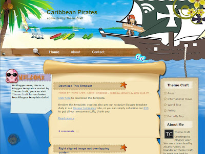 Caribbean Pirates Blogger Template
