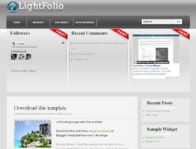 Lightfolio Blogger Skin