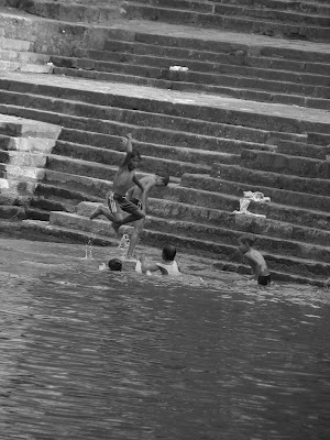 Kids swimming at Banganga