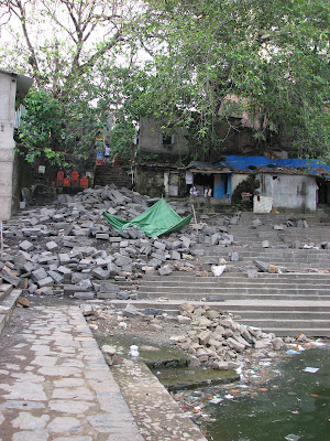 Garbage dumped in Banganga