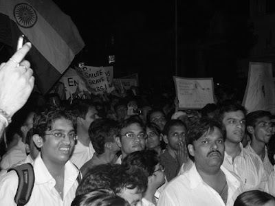 People holding placards during  protest