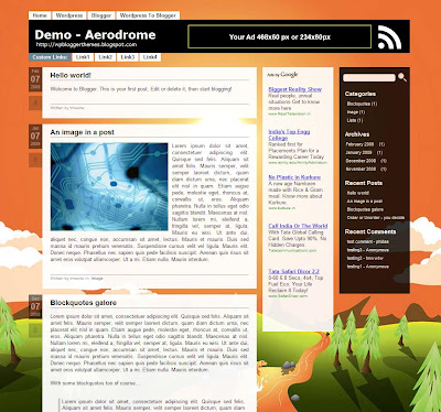 Aerodrome Blogger Theme