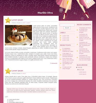 Starlite Diva blogger theme
