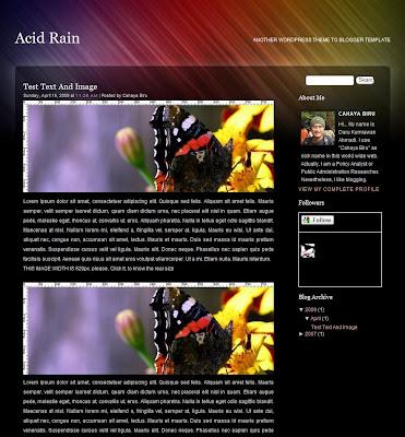 Acid Rain Blogger Skin