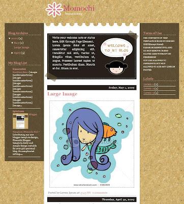 Momochi Blogger Theme