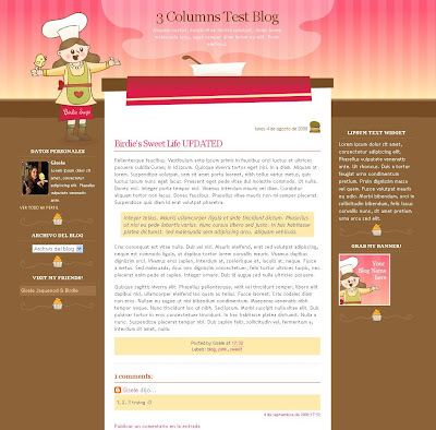 Meet the Chef Blogger Theme