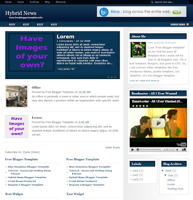 Hybrid News Blogger Theme