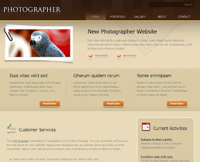 Photographer Blogger Skin