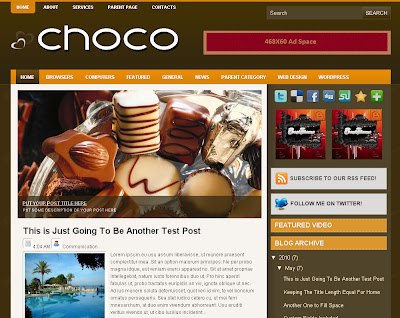 choco blogger blog template