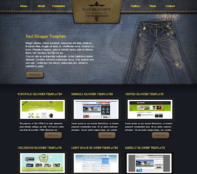 Jeans blogger template