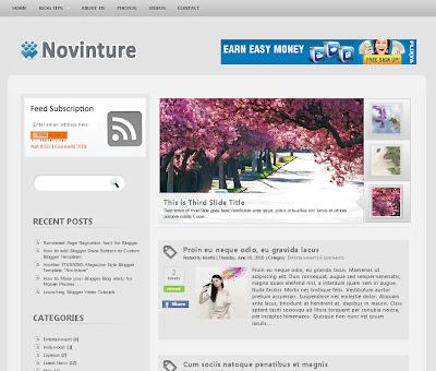 Novinture Blogspot Theme