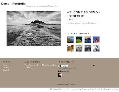 Fotofolio Blogger Template