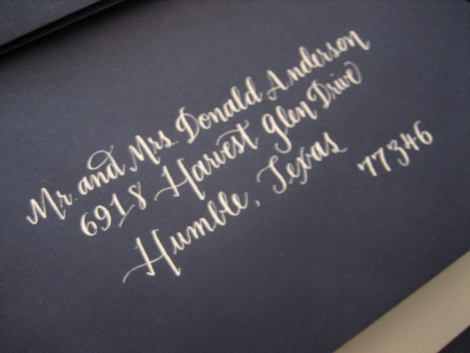 Navy Bean Navy White Calligraphy Project