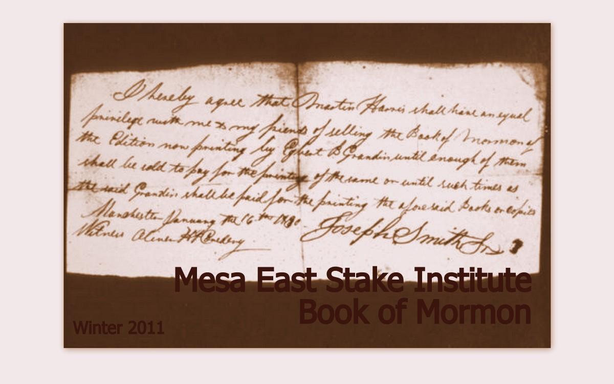 Mesa East Stake Institute