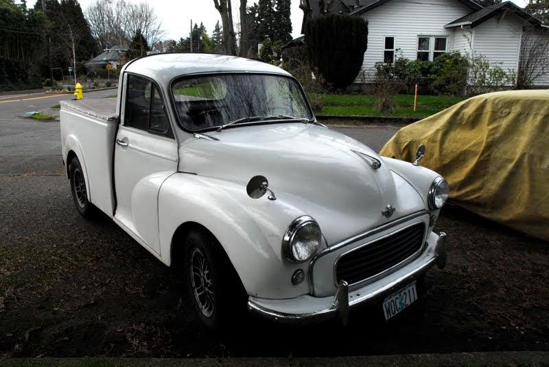 old parked cars 1961 morris minor 1000 pickup truck. Black Bedroom Furniture Sets. Home Design Ideas
