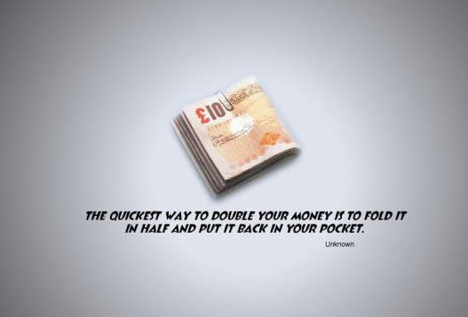 funny quotes double your money