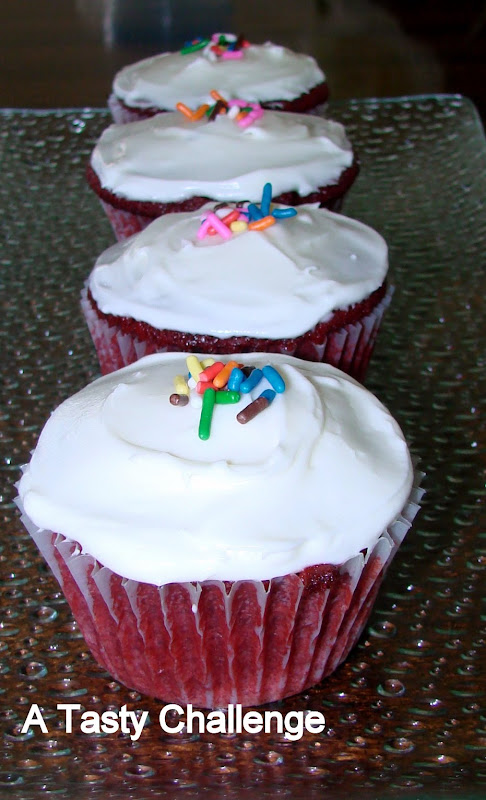 Red Velvet Cup Cake with Cream Cheese Frosting