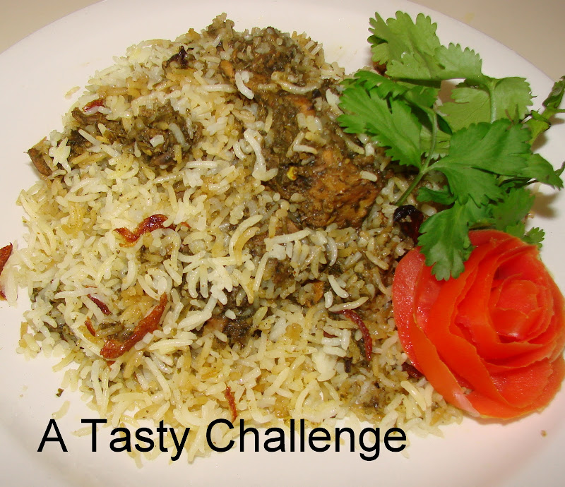 Coriander Mint Chicken Biriyani