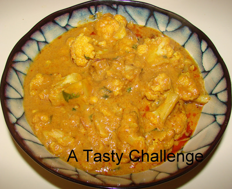 Cauliflower in Cashew Peanut Gravy