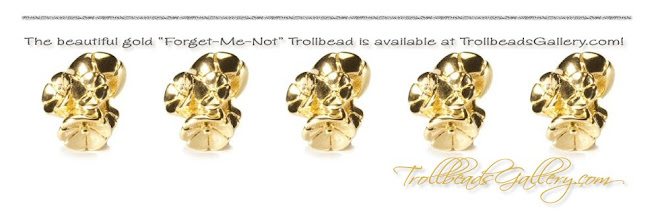 Gold Forget-Me-Not Trollbead