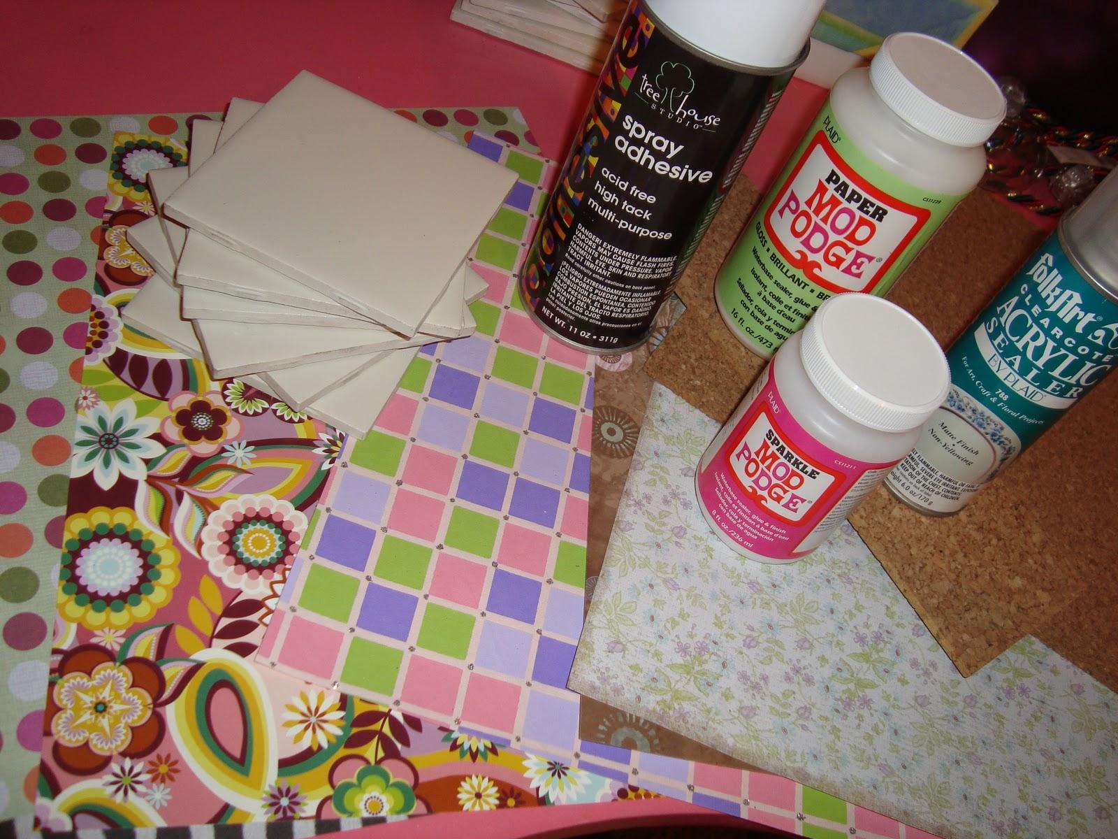 anngela s pretty little things custom tile coasters tutorial
