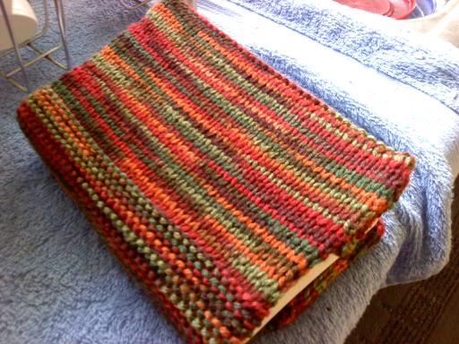 How To Make A Knitted Book Cover : One day at a time knitted book cover