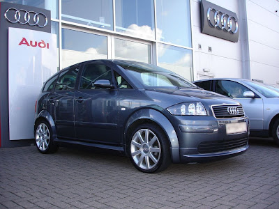 audi audi a2 1 4 sport dolphin grey with body kit. Black Bedroom Furniture Sets. Home Design Ideas