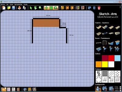 tecnoloxía xa: sketch arm programa gratis para el diseño de ... - Programas De Diseno De Muebles Gratis