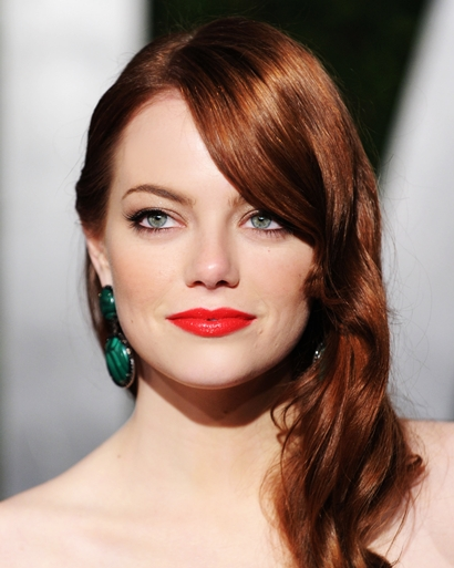 emma stone hair colour. emma stone hair color red.